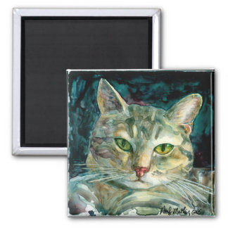 Grey Tabby Cat Magnet