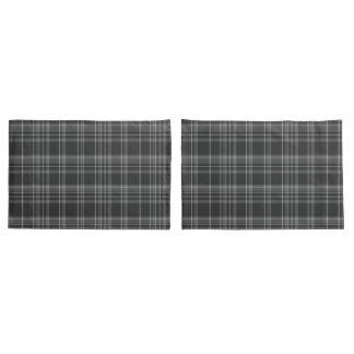 Grey Tartan Scottish Pattern Pillowcase
