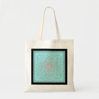 Grey Teal Crystal Tote Bag
