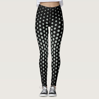 Grey Techno Dot Pattern Leggings