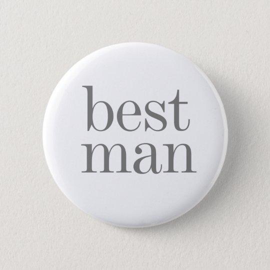 Grey Text Best Man Button