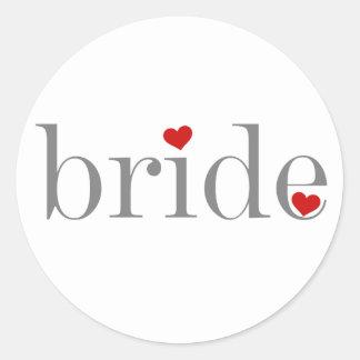 Grey Text Bride Sticker