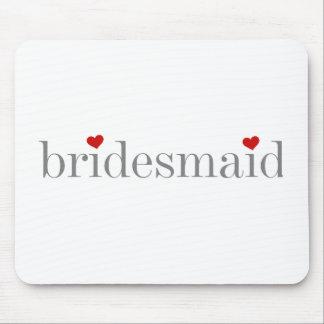 Grey Text Bridesmaid Mouse Pad