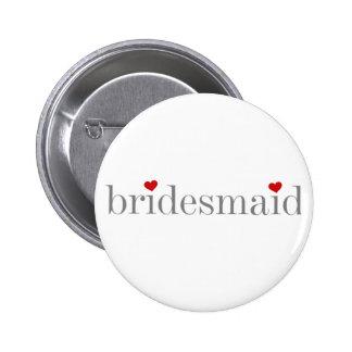 Grey Text Bridesmaid Pins