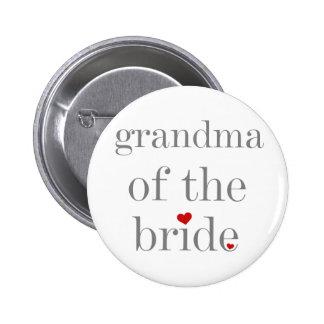 Grey Text Grandma of Bride Pins