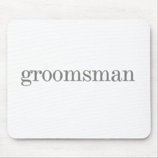 Grey Text Groomsman Mouse Pad