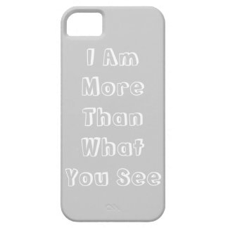 Grey Text iPhone Case