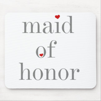 Grey Text Maid of Honour Mouse Pad