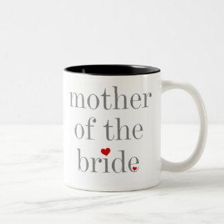 Grey Text Mother of Bride Mug