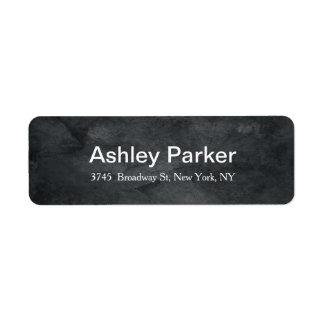 Grey Texture Modern Elegant Stylish Trendy Return Address Label