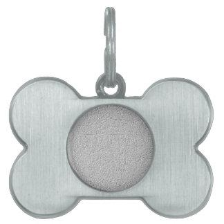 Grey texture pet name tag