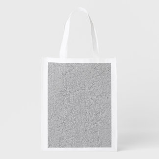 Grey texture reusable grocery bag