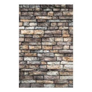 Grey tiles brick wall custom stationery