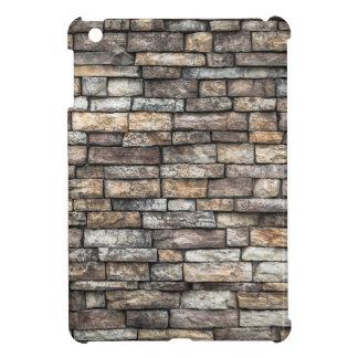 Grey tiles brick wall iPad mini cases
