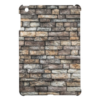 Grey tiles brick wall iPad mini cover