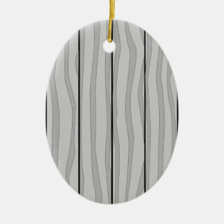 Grey Timber Background Ceramic Oval Decoration