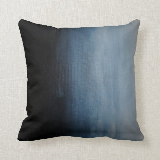 Grey to Dark Blue Ombre Pillow