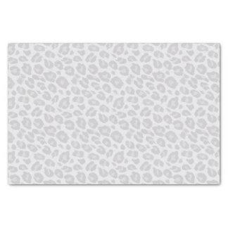Grey Tonal Leopard Print Tissue Paper