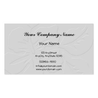 Grey Tone on Tone Hibiscus Double-Sided Standard Business Cards (Pack Of 100)