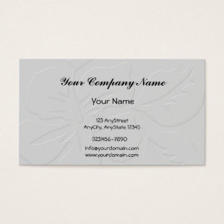 Grey Tone on Tone Hibiscus Business Card