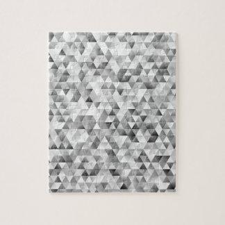 Grey triangle pattern jigsaw puzzle