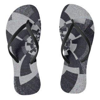 Grey Tweed Flip Flops