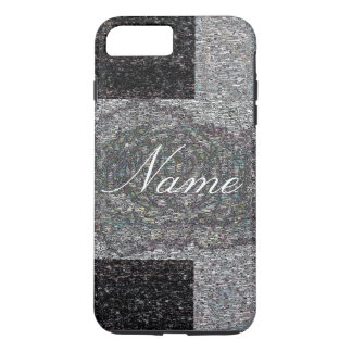 Grey Tweed with name iPhone 7 Plus Case