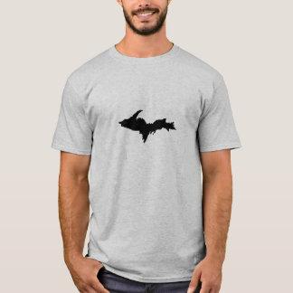 Grey Upper Peninsula shirt with 906 on reverse