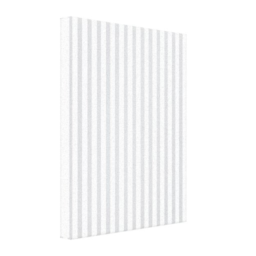 Grey Vertical Stripes Gallery Wrap Canvas