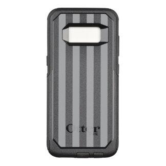 Grey Vertical Stripes OtterBox Commuter Samsung Galaxy S8 Case