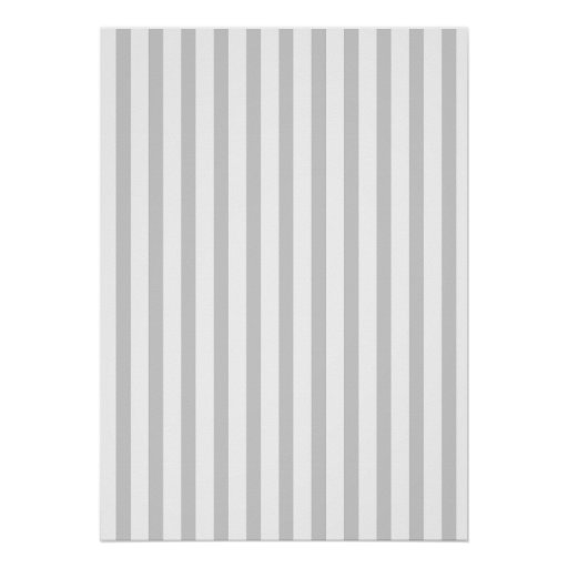 Grey Vertical Stripes Poster