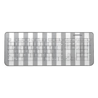 Grey Vertical Stripes Wireless Keyboard
