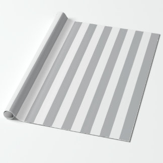 Grey Vertical Stripes Wrapping Paper