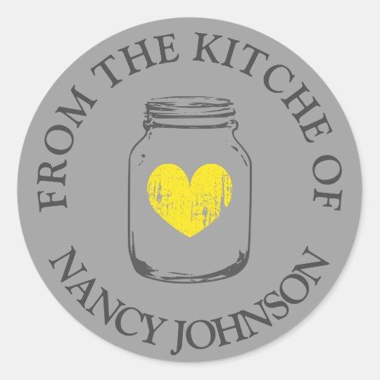 Grey vintage mason jar From the kitchen of