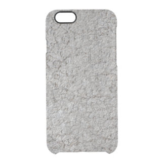 Grey wall background clear iPhone 6/6S case