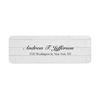 Grey Wall Handwriting Professional Unique Return Address Label