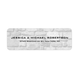 Grey Wall Plain Elegant Modern Trendy Family Return Address Label