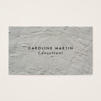 Grey Wall Texture Plain Modern Feminine Business Card