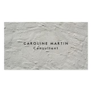 Grey Wall Texture Plain Modern Feminine Pack Of Standard Business Cards