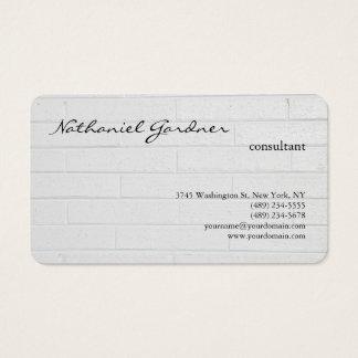 Grey Wall Trendy Plain Creative Modern Business Card