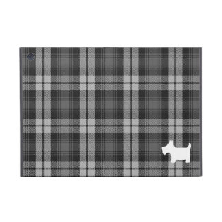 Grey Watch Tartan Pattern & Scottie Dog Case iPad Mini Cover