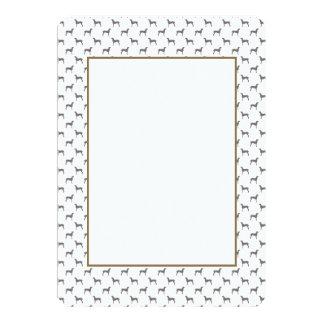 Grey Weimaraner Silhouettes on White Background 13 Cm X 18 Cm Invitation Card