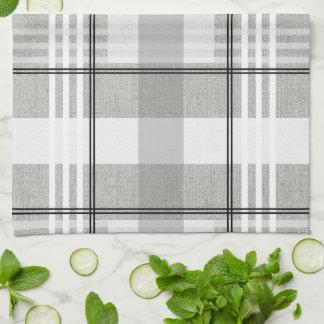 Grey, White, & Black Plaid Kitchen Towel