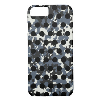Grey White Camo Black Polka Dot iPhone 8/7 Case