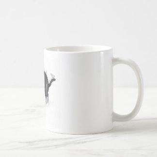Grey White Cat Ready to Pounce Basic White Mug