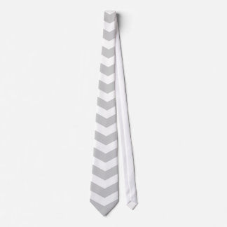 Grey & White Chevron Men's Tie