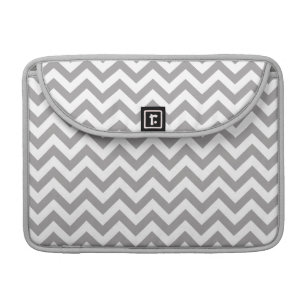 Grey White Chevron Pattern Sleeve For MacBook Pro