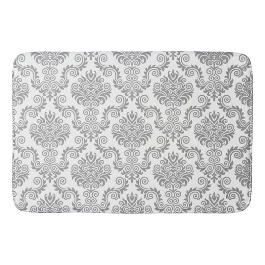 Grey & White Damask Pattern{pick your colour} Bath