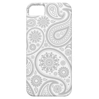 Grey White Flora Pattern Barely There iPhone 5 Case