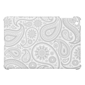 Grey White Flora Pern iPad Mini Cover
